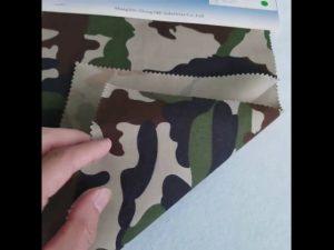 Tela de la tela cruzada del poliéster del algodón del patrón 8020 del camuflaje para el uniforme militar