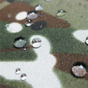 teflón 100% poliéster tejido impermeable exterior camuflaje lluvia chaqueta tela